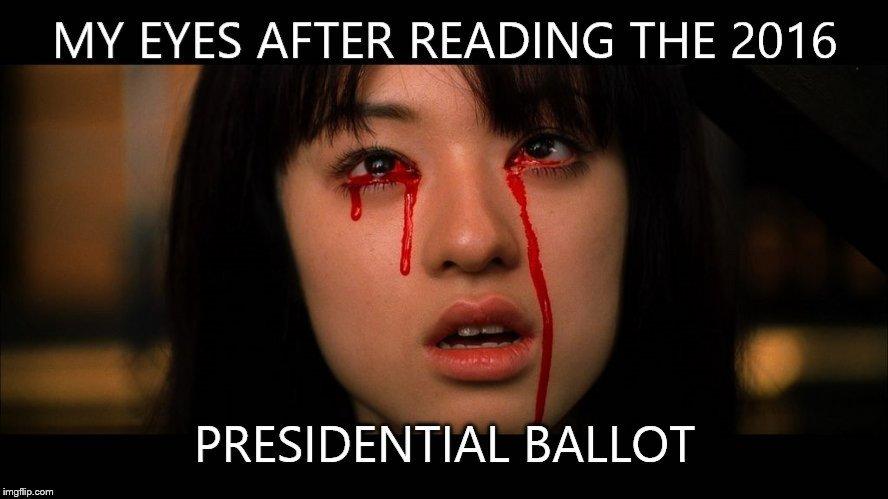 Image result for election ballot meme
