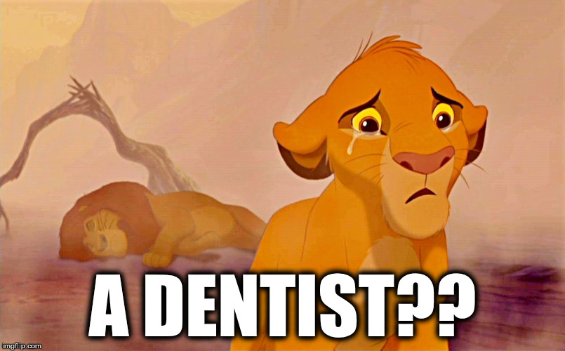 Simbad | A DENTIST?? | image tagged in dentist,cecil,lion king,lion,walter james palmer,walter palmer | made w/ Imgflip meme maker
