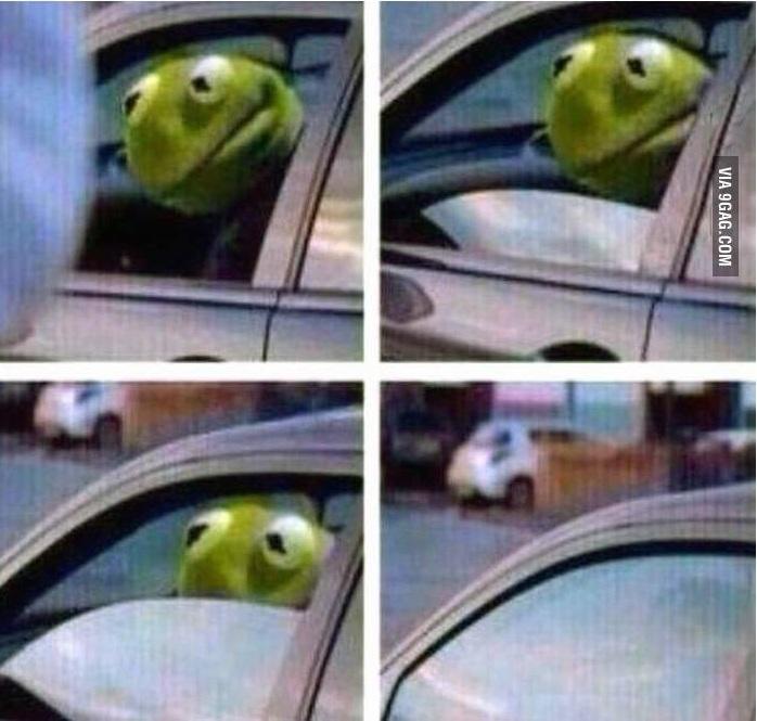 Kermit The Frog Meme Driving kermit driving ...