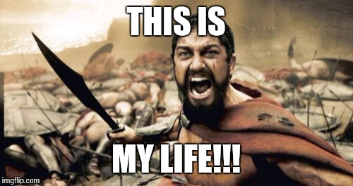 Sparta Leonidas Meme | THIS IS MY LIFE!!! | image tagged in memes,sparta leonidas | made w/ Imgflip meme maker