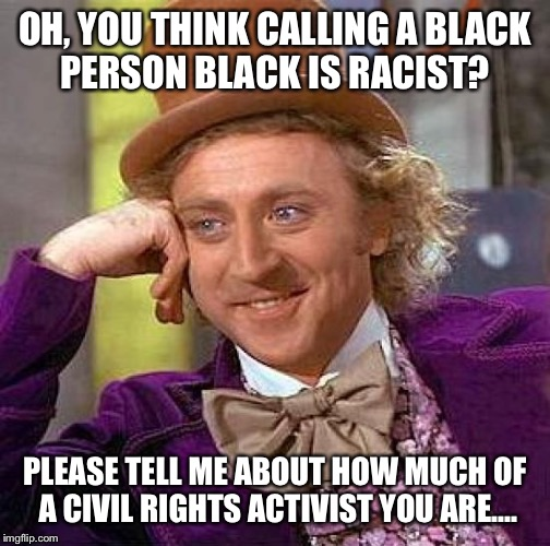 Racist black person meme