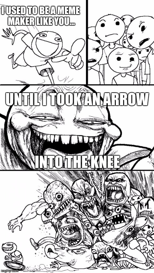 "Can't decide if it's ""in"" or ""to"" the knee? Why not both? 