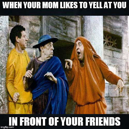 Don't you hate when this happens..... | WHEN YOUR MOM LIKES TO YELL AT YOU IN FRONT OF YOUR FRIENDS | image tagged in funny memes,yell,mom | made w/ Imgflip meme maker