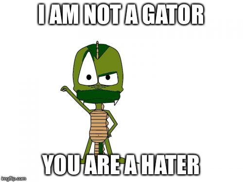 I Am Not A Gator Im A X | I AM NOT A GATOR YOU ARE A HATER | image tagged in memes,i am not a gator im a x | made w/ Imgflip meme maker
