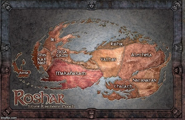 What's the Easter egg on the Roshar map??   Stormlight Archive