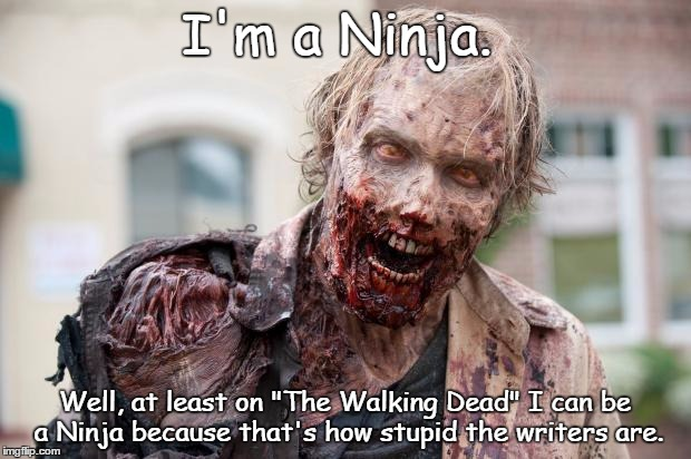 "Because only on TWD can I be a Ninja | I'm a Ninja. Well, at least on ""The Walking Dead"" I can be a Ninja because that's how stupid the writers are. 