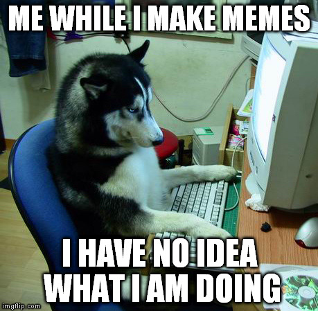 I Have No Idea What I Am Doing Meme | ME WHILE I MAKE MEMES I HAVE NO IDEA WHAT I AM DOING | image tagged in memes,i have no idea what i am doing | made w/ Imgflip meme maker