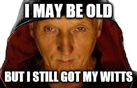 Saw Fulla | I MAY BE OLD BUT I STILL GOT MY WITTS | image tagged in memes,saw fulla | made w/ Imgflip meme maker