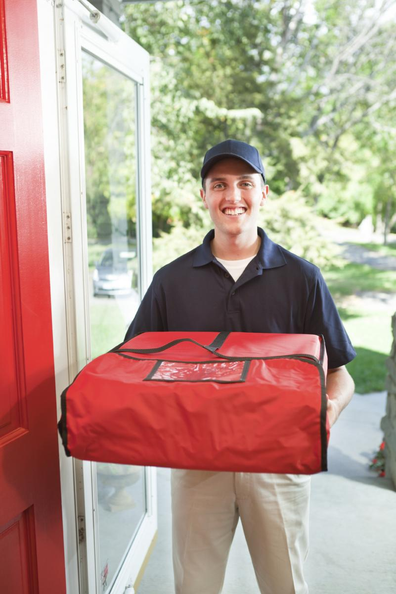 Image result for pizza delivery door