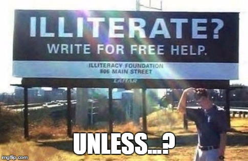 UNLESS...? | image tagged in caint reed shiz | made w/ Imgflip meme maker