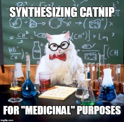 "Chemistry Cat | SYNTHESIZING CATNIP FOR ""MEDICINAL"" PURPOSES 
