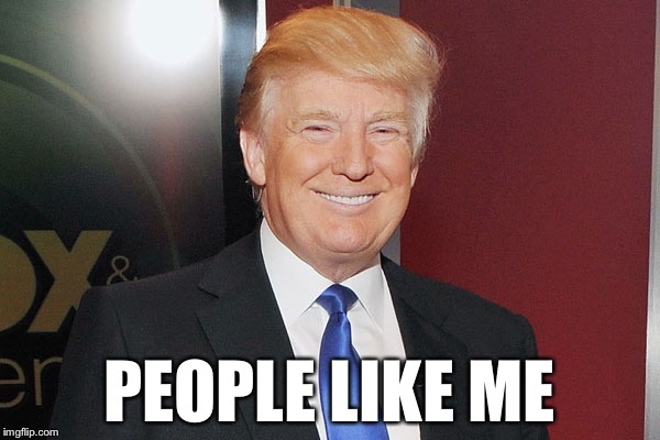 PEOPLE LIKE ME | image tagged in donald trump | made w/ Imgflip meme maker