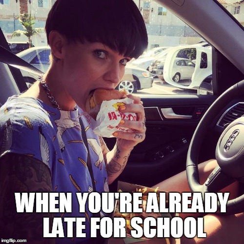 how to stop being late for school