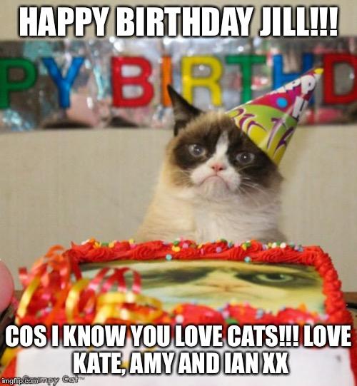 pmytv grumpy cat birthday meme imgflip,Happy Birthday Kate Meme