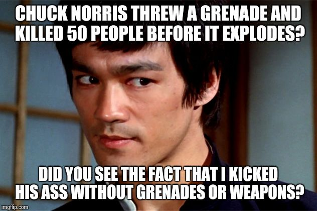Chuck norris got his ass kicked
