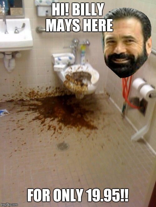 HI! BILLY MAYS HERE FOR ONLY 19.95!! | image tagged in billy doodoo | made w/ Imgflip meme maker