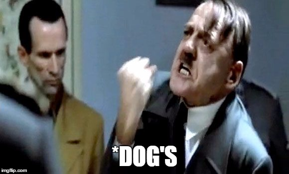 Hitler's Rant | *DOG'S | image tagged in hitler's rant | made w/ Imgflip meme maker