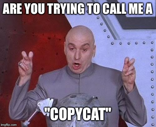 "ARE YOU TRYING TO CALL ME A ""COPYCAT"" 