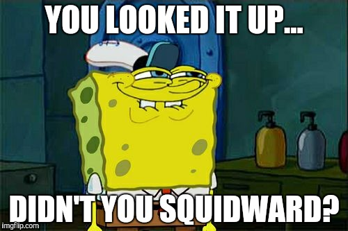 YOU LOOKED IT UP... DIDN'T YOU SQUIDWARD? | image tagged in memes,dont you squidward | made w/ Imgflip meme maker