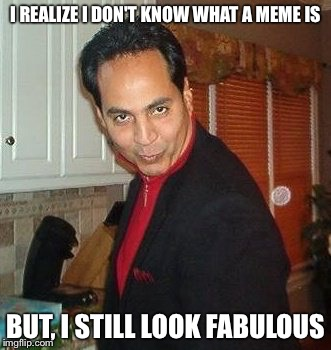 I Realize I still look Fabulous | I REALIZE I DON'T KNOW WHAT A MEME IS BUT, I STILL LOOK FABULOUS | image tagged in i realize i still look fabulous | made w/ Imgflip meme maker