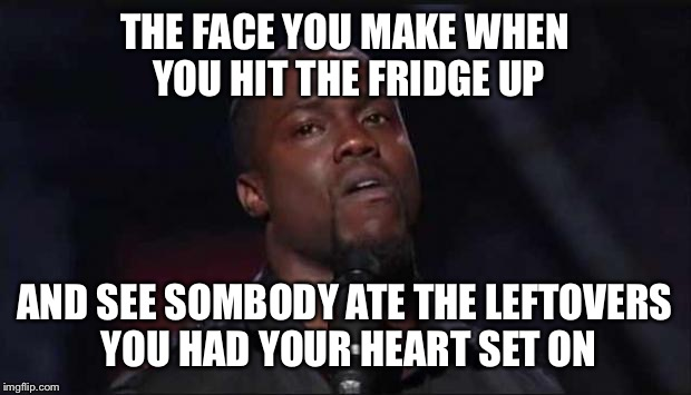 hoe | THE FACE YOU MAKE WHEN YOU HIT THE FRIDGE UP AND SEE SOMBODY ATE THE LEFTOVERS YOU HAD YOUR HEART SET ON | image tagged in hoe | made w/ Imgflip meme maker