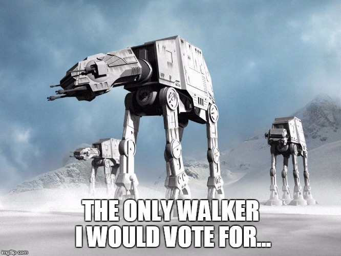 walkers | THE ONLY WALKER I WOULD VOTE FOR... | image tagged in walkers | made w/ Imgflip meme maker
