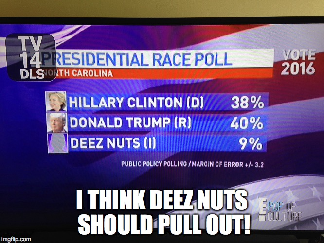 I THINK DEEZ NUTS SHOULD PULL OUT! | made w/ Imgflip meme maker
