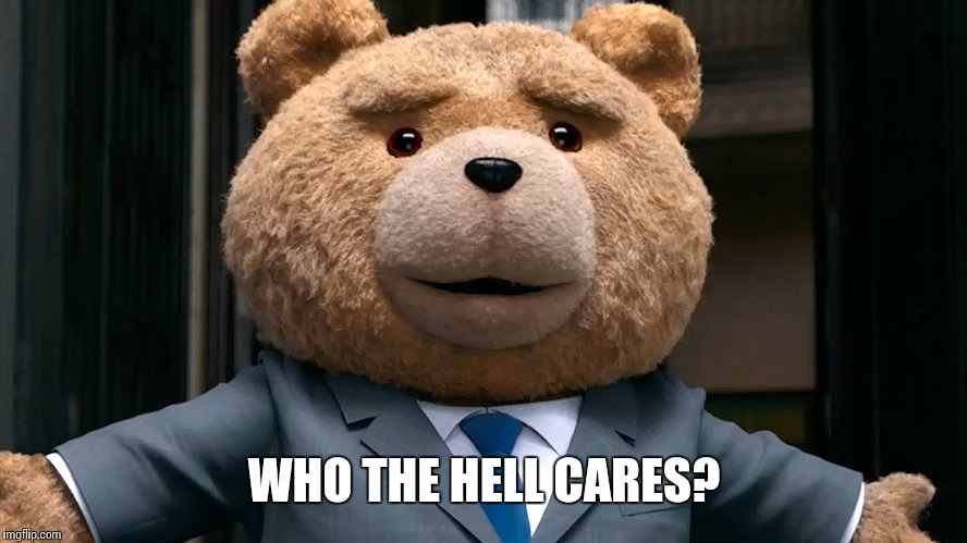 WHO THE HELL CARES? | made w/ Imgflip meme maker