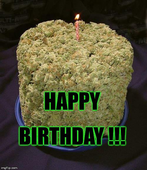 Happy Birthday Weed Stoner Cake