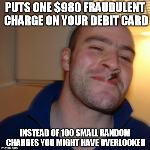 qfqh0 thanks, good guy credit card fraudster! imgflip,Credit Or Debit Meme