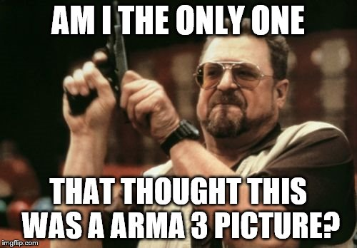 Am I The Only One Around Here Meme | AM I THE ONLY ONE THAT THOUGHT THIS WAS A ARMA 3 PICTURE? | image tagged in memes,am i the only one around here | made w/ Imgflip meme maker