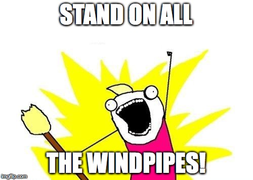 X All The Y Meme | STAND ON ALL THE WINDPIPES! | image tagged in memes,x all the y | made w/ Imgflip meme maker
