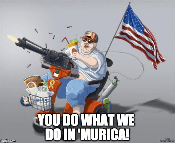YOU DO WHAT WE DO IN 'MURICA! | image tagged in m | made w/ Imgflip meme maker