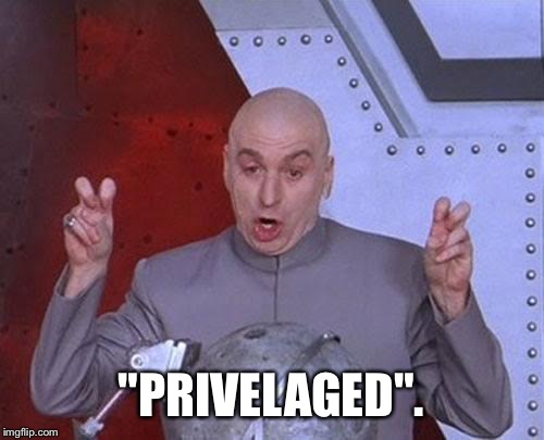 "Dr Evil Laser Meme | ""PRIVELAGED"". 
