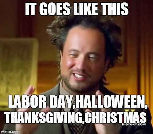 Funny Meme Labor Day : Ancient aliens meme imgflip