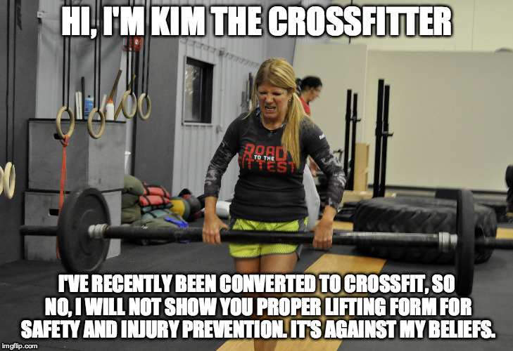 Kim the Crossfitter - Imgflip