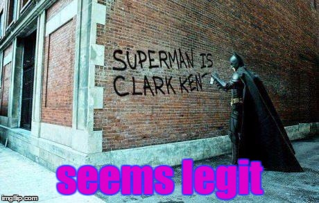 Batman vs. Superman back alley edition | seems legit | image tagged in funny,memes,batman,superman,seems legit | made w/ Imgflip meme maker
