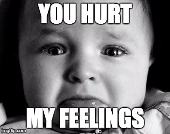 Image result for you hurt my feelings meme
