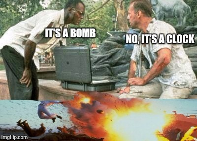 Bomb or Clock | image tagged in clock,funny meme,comedy,oblivious hot girl | made w/ Imgflip meme maker