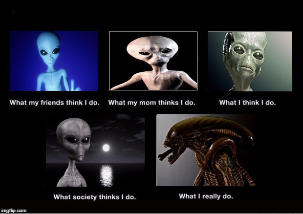 Aliens misunderstood | image tagged in funny,memes,what i really do,aliens | made w/ Imgflip meme maker