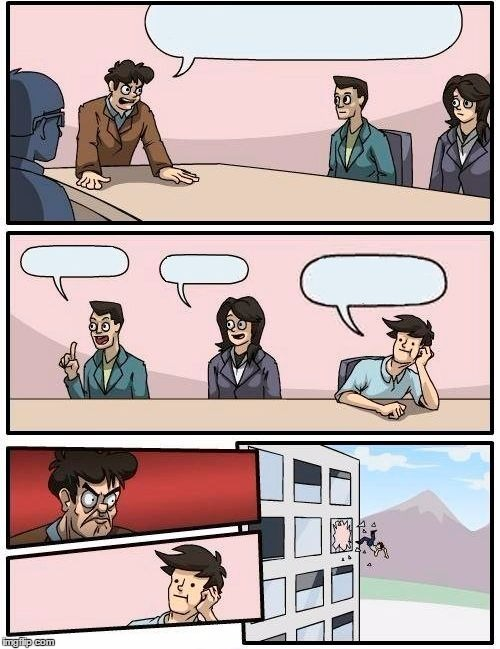 High Quality Board Room Meeting Blank Meme Template
