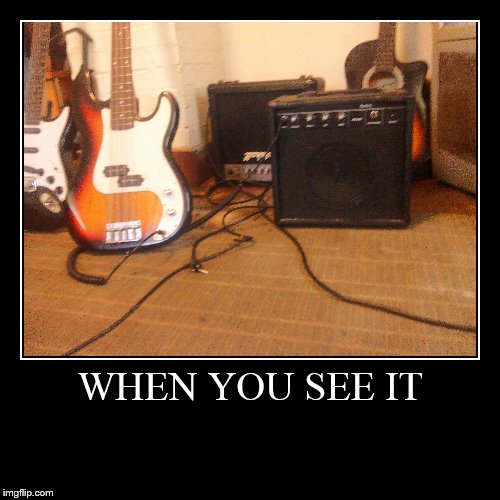 Guitars and Amps | WHEN YOU SEE IT | | image tagged in funny,demotivationals,when you see it | made w/ Imgflip demotivational maker