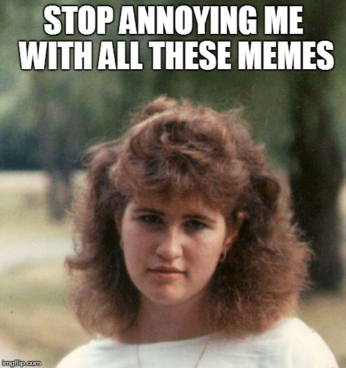 Stop annoying me with all these memes | STOP ANNOYING ME WITH ALL THESE MEMES | image tagged in dawn,memes,annoyed | made w/ Imgflip meme maker