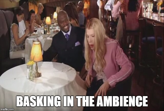 Basking in the Ambience | BASKING IN THE AMBIENCE | image tagged in fart,white chicks,terry crews,basking,ambience,basking in the ambience | made w/ Imgflip meme maker