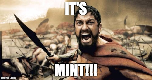 Sparta Leonidas Meme | IT'S MINT!!! | image tagged in memes,sparta leonidas | made w/ Imgflip meme maker