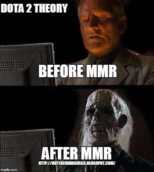 I'll Just Wait Here Meme | BEFORE MMR AFTER MMR DOTA 2 THEORY HTTP://HOTTRENDINGGAGS.BLOGSPOT.COM/ | image tagged in memes,ill just wait here | made w/ Imgflip meme maker