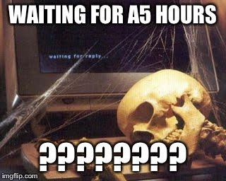 Waiting Skull | WAITING FOR A5 HOURS ???????? | image tagged in waiting skull | made w/ Imgflip meme maker