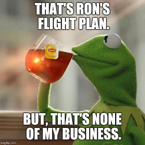 But Thats None Of My Business Meme | THAT'S RON'S FLIGHT PLAN. BUT, THAT'S NONE OF MY BUSINESS. | image tagged in memes,but thats none of my business,kermit the frog | made w/ Imgflip meme maker