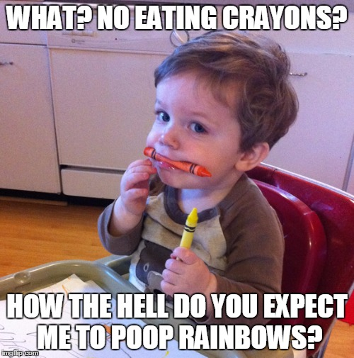 What happens if you eat crayons?