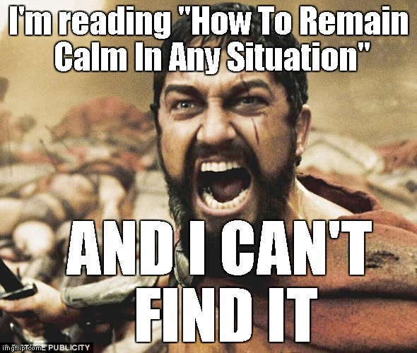 "Leonidas | I'm reading ""How To Remain Calm In Any Situation"" AND I CAN'T FIND IT 